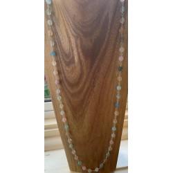 Beryl Rosary Style Necklace