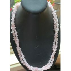 Rose Quartz Double Layer Necklace