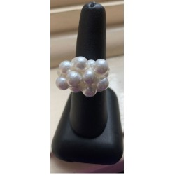 Shell Pearl Cluster Ring