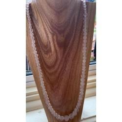 Rose Quartz Graduated Necklace